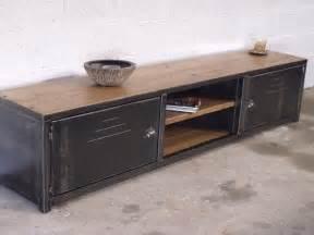 meuble tv bas bois m 233 tal meuble loft micheli design