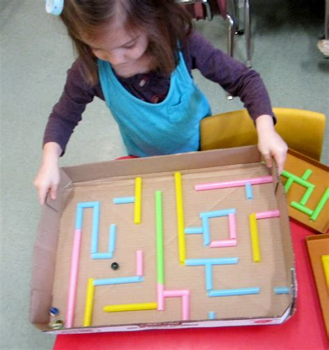 to make with toddlers preschool crafts for straw maze craft