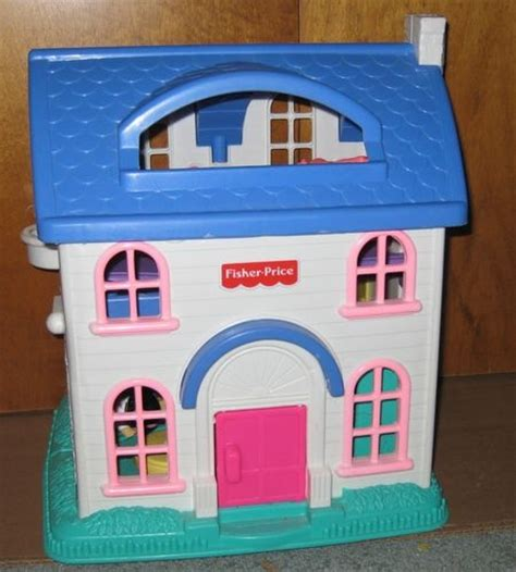 fisher price little people dolls house vintage 1996 fisher price doll house with figures and furniture fisher price