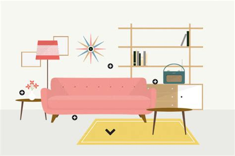 1950s interior design an interactive infographic of interior design