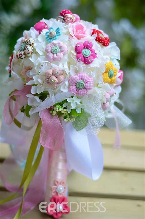 sphere shaped cute flower wedding bridal bouquet