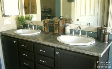 diy concrete countertop  sink openings pneumatic addict