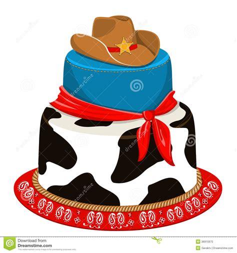 imagenes cumpleaños vaqueros torta de cumplea 241 os del partido del vaquero ilustraci 243 n