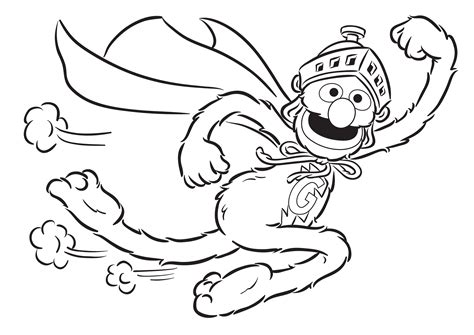 super grover 2 0 coloring pages coloring pages