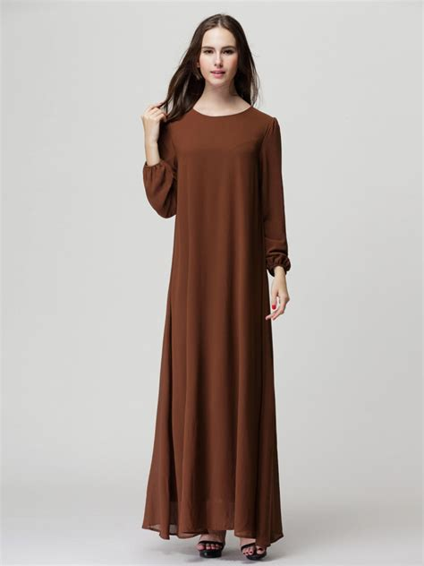 Brown Maxi brown sleeve shift maxi dress with belt fr sale