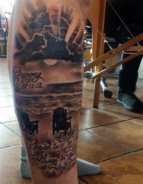 lower leg tattoo for men 75 tattoos for serene shore designs