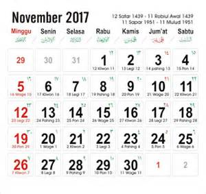 Kalender 2018 Kliwon Kalender 2017 12bulan Hari Libur Nasional Cuti Bersama