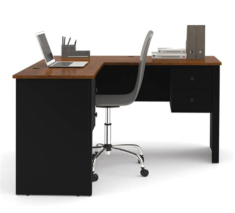 l shaped computer desk with storage bestar somerville l shaped desk