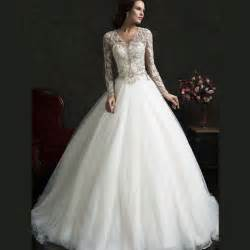 popular long sleeve modest wedding gowns buy cheap long