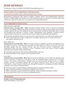 Sles Of Resumes For Customer Service by Exle Customer Service Associate Resume Free Sle