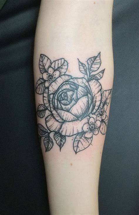 rose and leaf tattoos my with tea leaves and tea