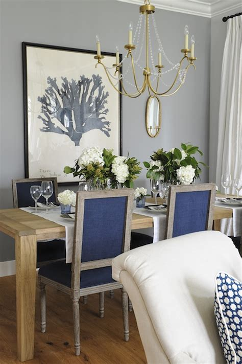 Navy Blue Dining Room Navy Blue Dining Chairs Transitional Dining Room Kerrisdale Design