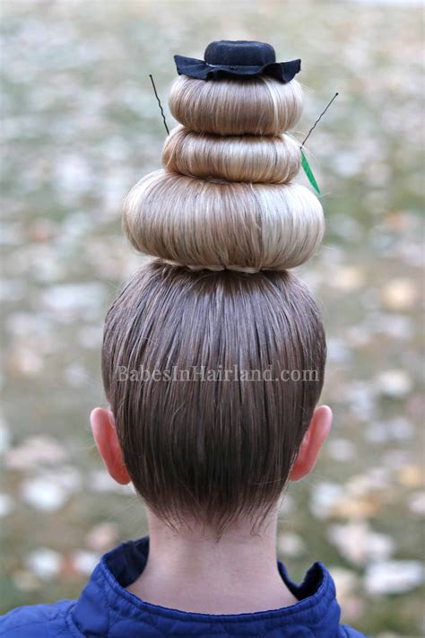 snowman sock bun snowman hairstyle for hair day or