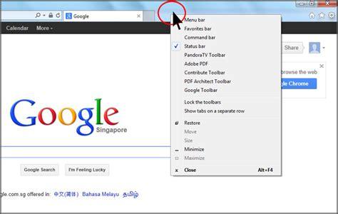 Windows Top Bar Missing Internet Explorer 10 Show Menu Bar Simple Stuffs