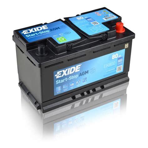 Was F R Eine Batterie Braucht Mein Auto by Exide Batterie Agm 12v 80ah 800a Autobatterien G 252 Nstig Ch