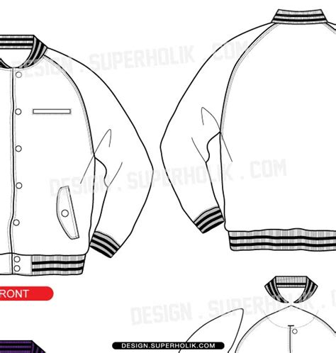 baseball jacket template fashion design templates vector illustrations and clip