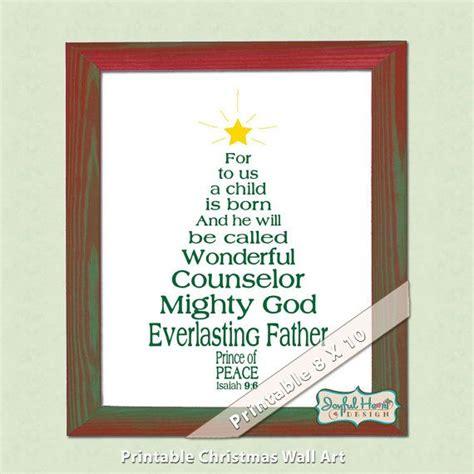 christian christmas bible verse art isaiah scripture