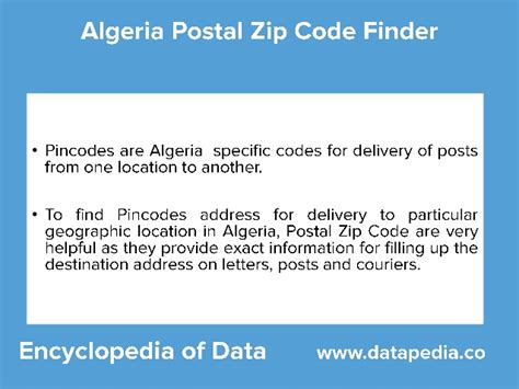 Zip Code Lookup Algeria Postal Zip Codes Lookup Datapedia