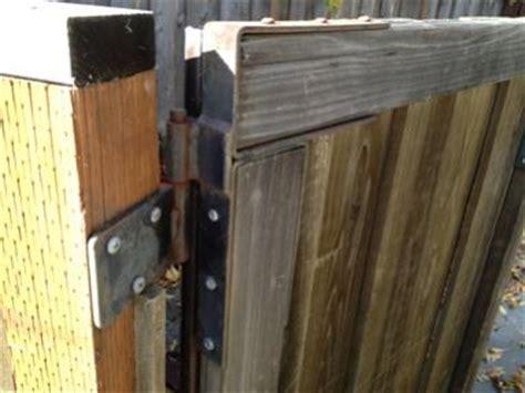 wooden gate bracket doityourselfcom community forums
