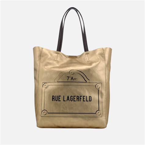 Karl Lagerfeld Gold karl lagerfeld s rue lagerfeld shopper bag gold
