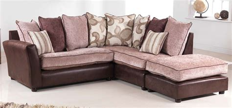brown fabric corner sofa sorrento brown fabric corner sofa rhf sofashop com