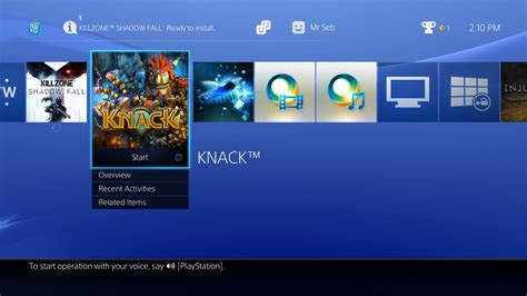 ps4 on unimpressive but slick ui and social