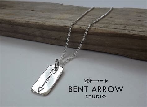 Sterling Silver Arrow Necklace sterling silver arrow necklace from bent arrow studio