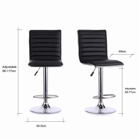 2pcs pu leather adjustable counter swivel bar stool pub ikayaa 2pcs set of pu leather pneumatic swivel bar stools