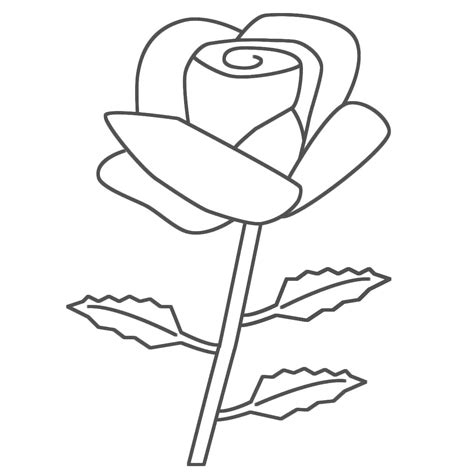 Free Printable Roses Coloring Pages For Kids In Coloring Pages