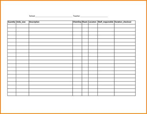Printable Inventory Spreadsheet by 7 Printable Blank Inventory Spreadsheet Balance Spreadsheet