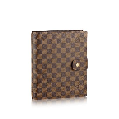 Large Covers Large Ring Agenda Cover Damier Ebene Canvas Small