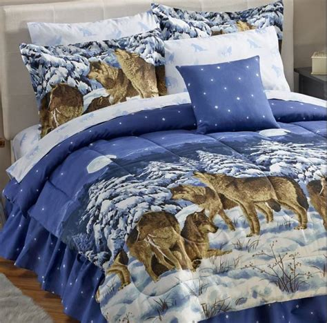 wolf comforter set queen alcove midnight wolves 8 pc bed set queen half a home