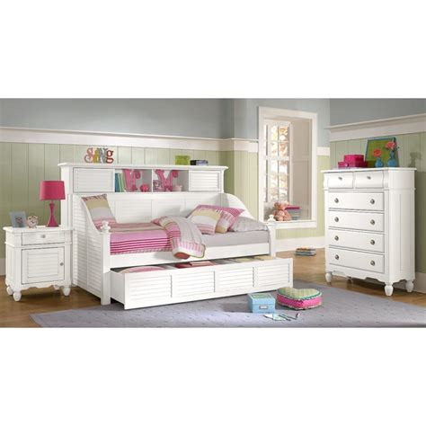 full size daybed with trundle and bookcase furniture white girls bedroom set featured full size