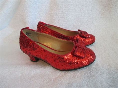toddler ruby slippers glitter shoes 7 toddler heels wizard oz dorothy