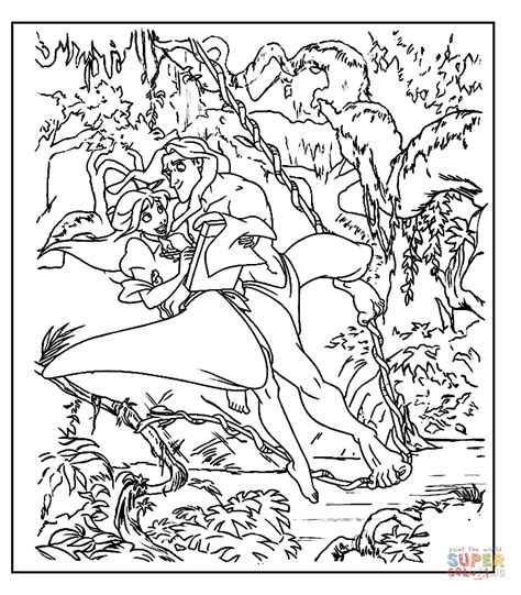 jungle scene coloring pages realistic coloring pages