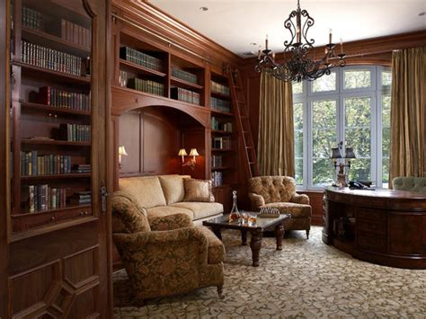 traditional home decor ideas with study room style