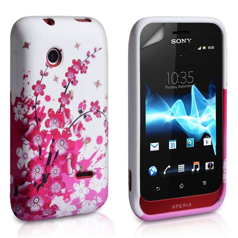 Casing Hp Sony Xperia Tipo yousave accessories sony xperia tipo floral bee silicone
