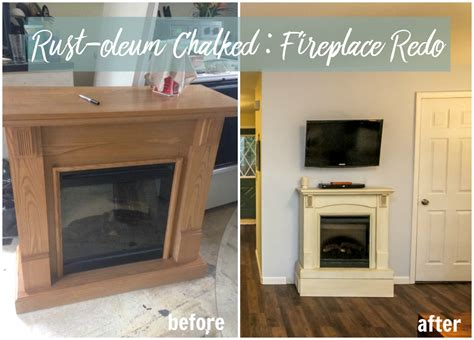 rustoleum fireplace paint chalked fireplace redo product review allender dot