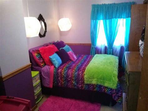 rainbow zebra bedroom big girls room bedroom decor