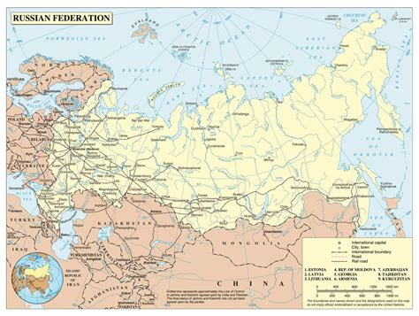 political map of russia with cities large political map of russia with roads railroads and