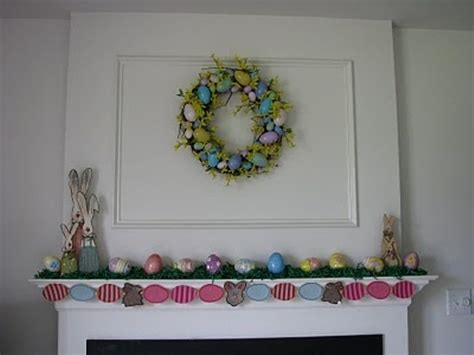Easter Mantel Decorations by 43 Stylish Easter Mantel Decorating Ideas Digsdigs