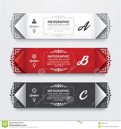 label graphic design infographic design modern vintage labels template stock