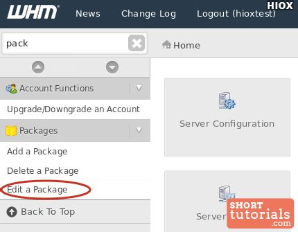 tutorial web host manager how to create a new package within whm