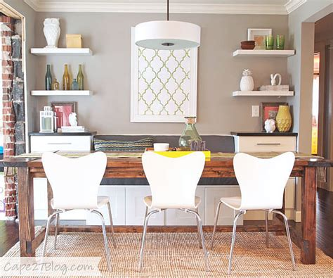 dining banquette with storage diy banquette popsugar home