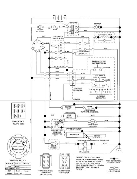 craftsman lawn mower safety switch wiring diagram
