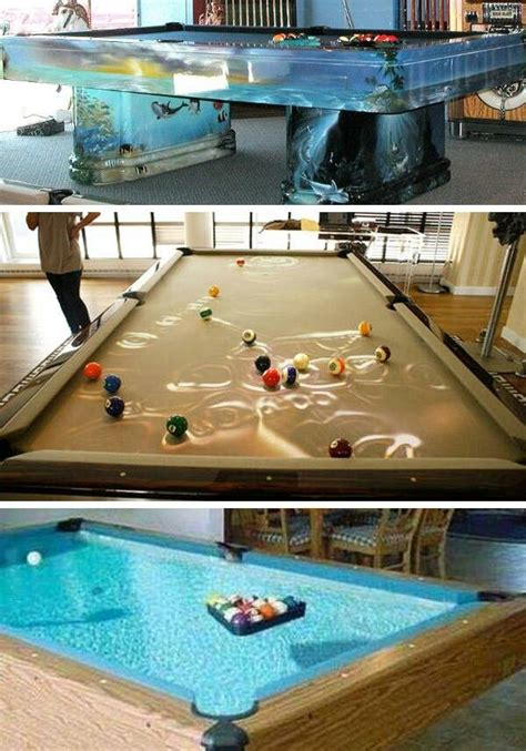 Water Pool Table by Awesome Water Fish Tank Pool Table Amazing Fish Tanks
