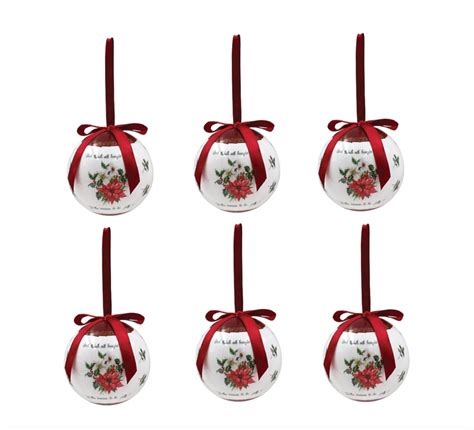 httpsbuyrxnetorgdecoratedecorate christmas baubleshtml deck the halls baubles set of 6 tree bauble decorations threelittlebears co uk