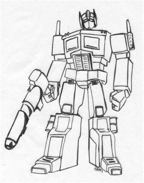 Optimus Prime Coloring Page by Free Optimus Prime Coloring Pages