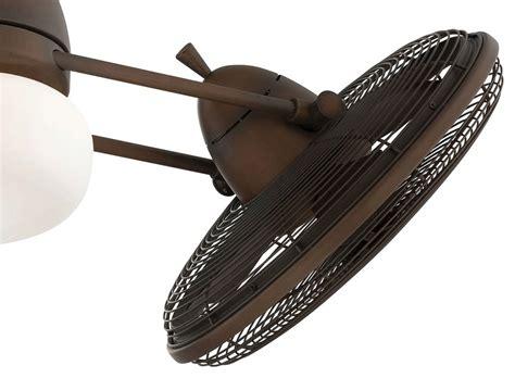 gyro twin ceiling fan minka aire 42 inch restoration bronze gyro ceiling fan