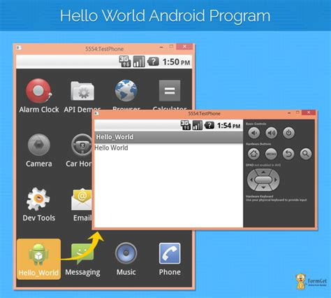 android hello world android hello world program exle using eclipse formget